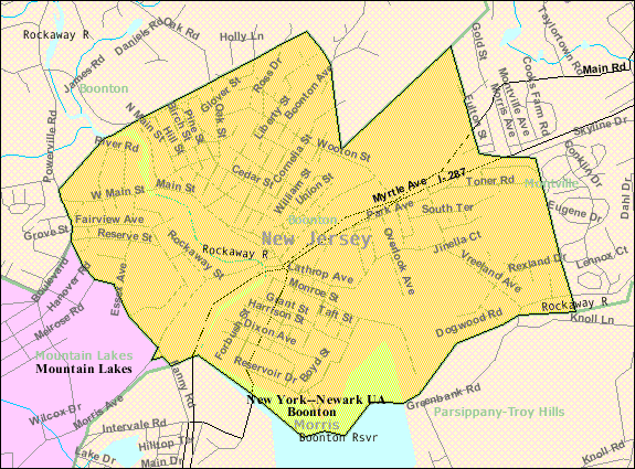 Census Bureau Map Of Boonton New Jersey
