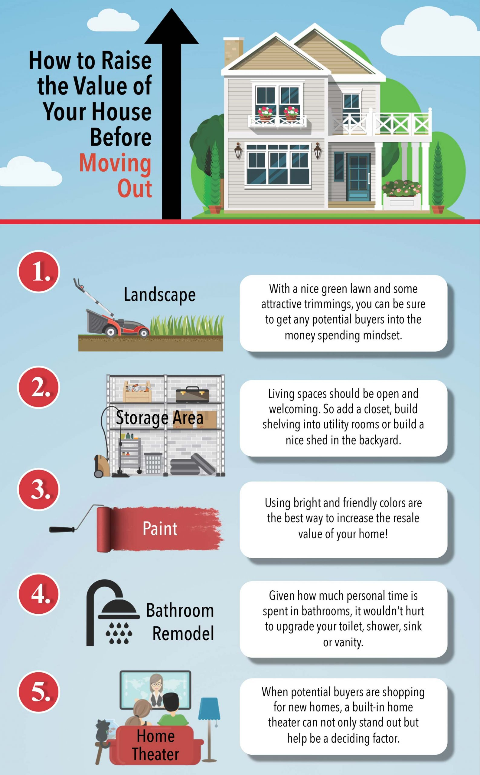 How To Raise The Value Of Your House Before Moving Infographic Scaled