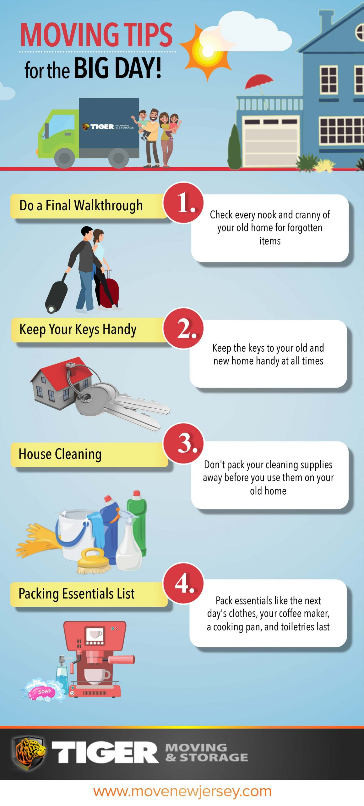 Moving Tips For The Big Moving Day Infographic Scaled