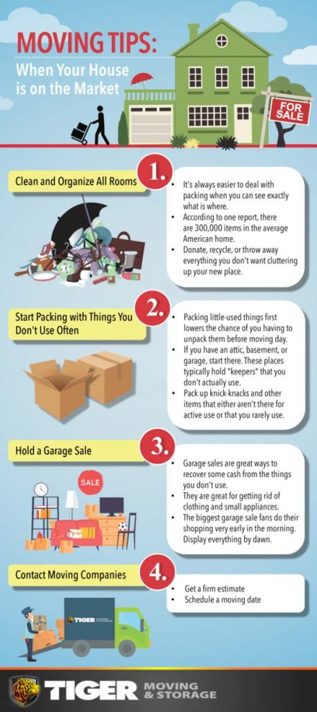 Moving Tips When Your House Is On The Market Infographic