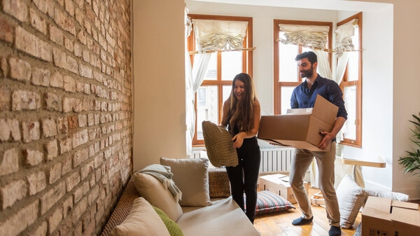 Young Couple Moving House